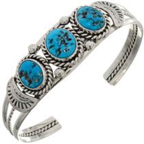 Natural Kingman Turquoise Cuff Bracelet 26314