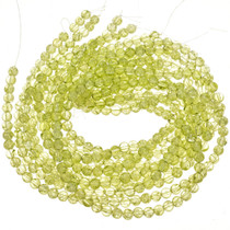 8mm Green Cracked Glass Beads 16 inch Strand