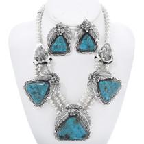 Navajo Kingman Turquoise Necklace Set 16280