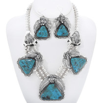 Navajo Kingman Turquoise Necklace Set 16280