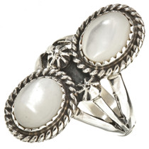 Mother Of Pearl Navajo Ring 25931
