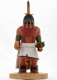 Hopi Red Beard Long Hair Kachina 24241