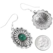 Navajo Silver Concho Gemstone Earrings 28937