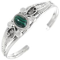 Malachite Sterling Ladies Bracelet 22402