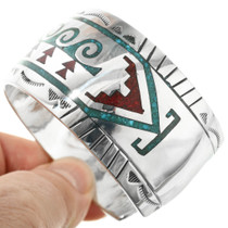 Navajo Turquoise Chip Inlay Bracelet 29599