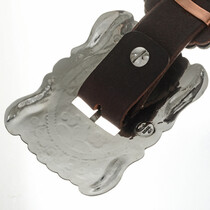 Navajo Style Hand Hammered Silver Buckle 16831
