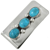 Silver Turquoise Money Clip 22264