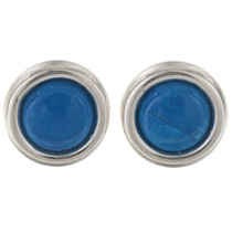 Blue Turquoise Howlite Stud Earrings 28007