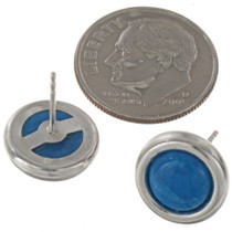 Navajo Blue Silver Stud Earrings 28007