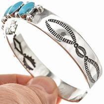 Navajo Silver Turquoise Bracelet 25858