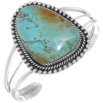 Kingman Turquoise Ladies Navajo Bracelet 28283
