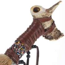 Beaded Buckskin Peace Pipe 25325