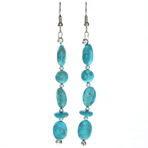 Turquoise Silver Navajo Earrings