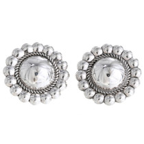 Navajo Silver Concho Earrings 10658