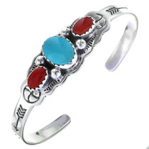 Childrens Navajo Three Stone Cuff 29583