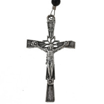 Southwest Silver Cross Necklace 21558