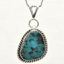 American Indian Turquoise Pendant 28718