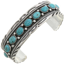 Turquoise Silver Cuff 27109