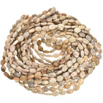 10mm x 14mm Fossil Coral Beads 16 inch Long Strand