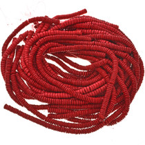 8mm Red Wooden Beads 16 inch Strand