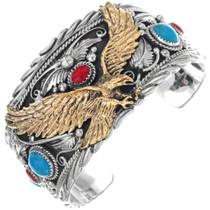 Gold Eagle Silver Mens Bracelet 24975