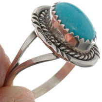 Southwest Turquoise Silver Ring 26495