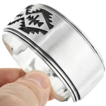 Traditional Pattern Sterling Indian Cuff 27721
