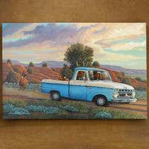 Old Ford Pickup Truck Giclée Canvas Print 16353