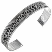 Southwest Handmade Silver Cuff Bracelet 27789