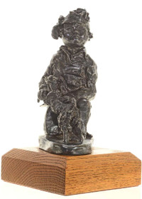 Navajo Boy with Lamb Bronze Sculpture 27238