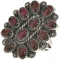 Navajo Garnet Petit Point Ring 28824