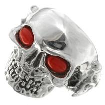 Navajo Silver Skull Mens Ring 26738