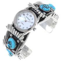 Turquoise Sterling Watch Cuff 23380