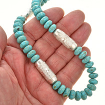 Genuine Turquoise Navajo Necklace 21601