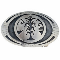 Hopi Style Overlaid Belt Buckle 22036