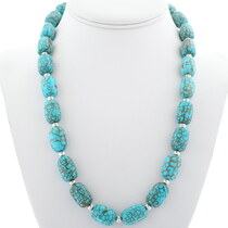 Navajo Turquoise Beaded Necklace 23351