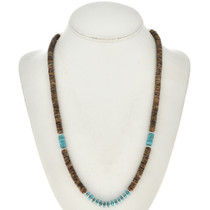 Turquoise Shell Heishi Necklace 29352