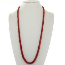 Apple Coral Beaded Indian Necklace 28301
