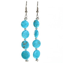 Kingman Turquoise Navajo Earrings 29235