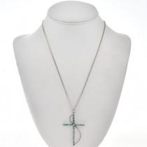 Southwest Turquoise Cross Pendant 28830