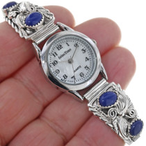 Lapis Silver Ladies Watch Bracelet 23011
