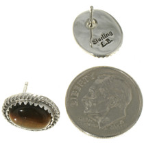Southwest Gemstone Silver Post Earrings 28445