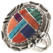 Turquoise Multi-stone Silver Ring 28745