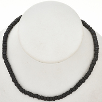 5mm Black Wooden Beads 16 inch Strand