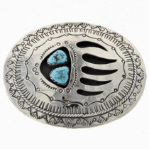 Turquoise Bear Paw Belt Buckle 24735