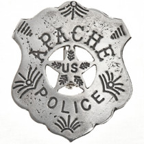 Police Old West BADGE: Official Brothel Inspector Lawman Round Cutout Star