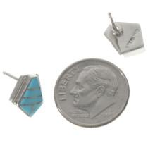 Handmade Turquoise Silver Earrings 24128