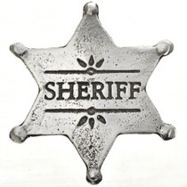 Sheriff Silver Star Badge 29008