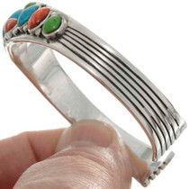 Sterling Mutistone Native American Bracelet 26357