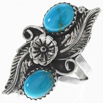 Turquoise Silver Ladies Ring 27564